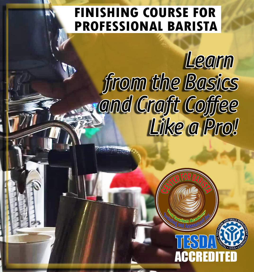 Finishing Course for Professional Barista's Enrollment Cover