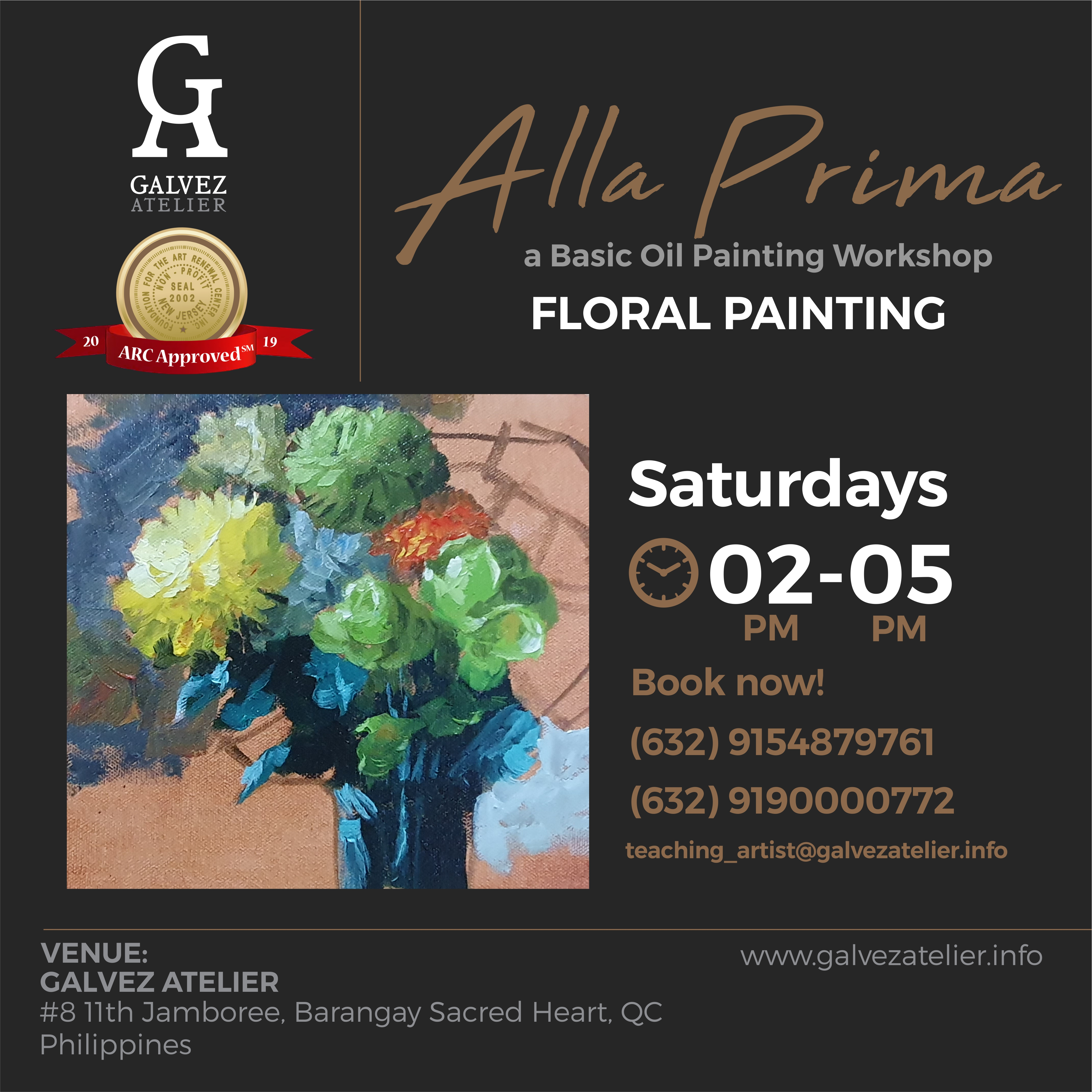 Alla Prima- Painting Flowers's Enrollment Cover