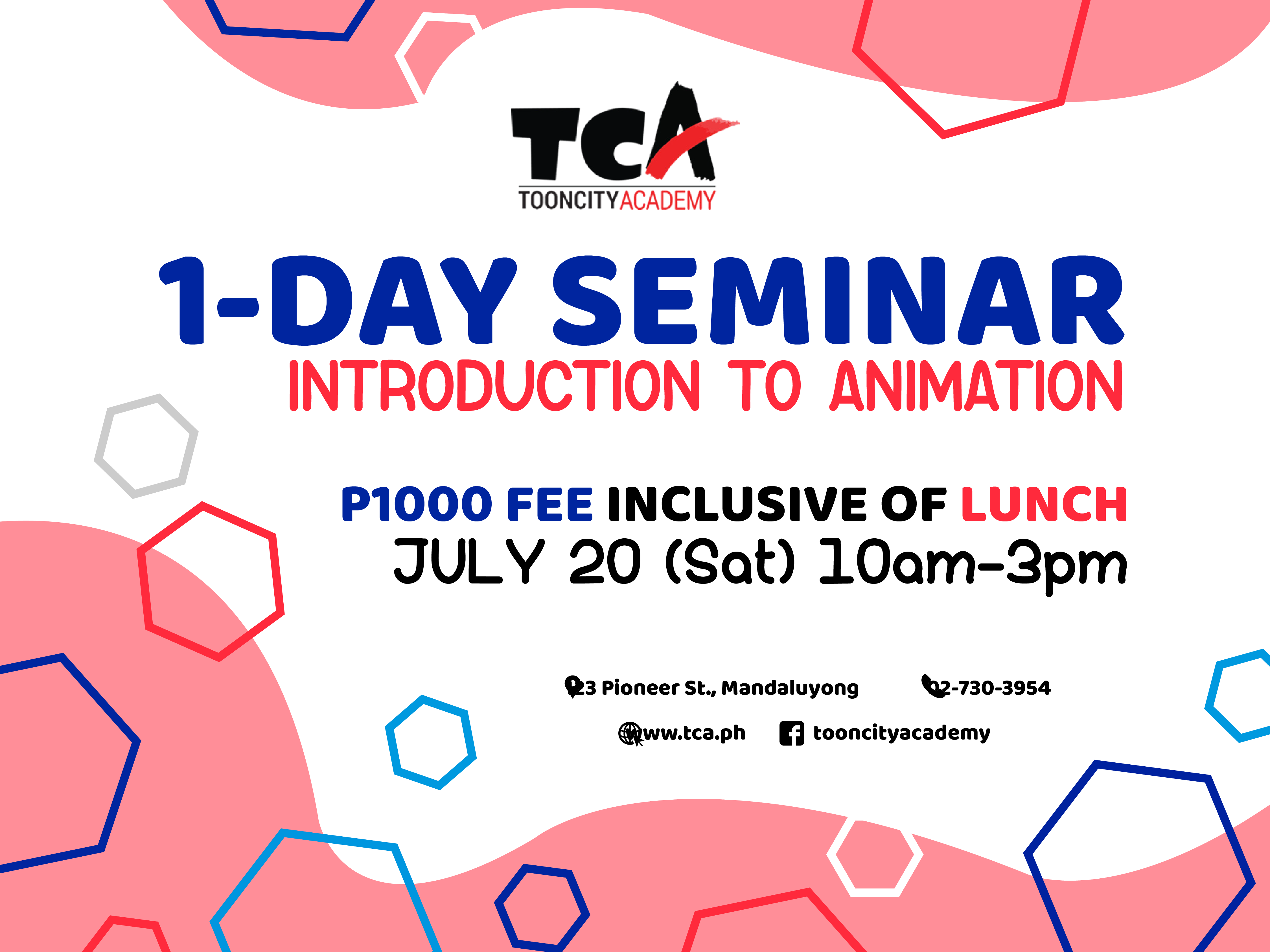 1-DAY Seminar: Introduction to Animation's Enrollment Cover