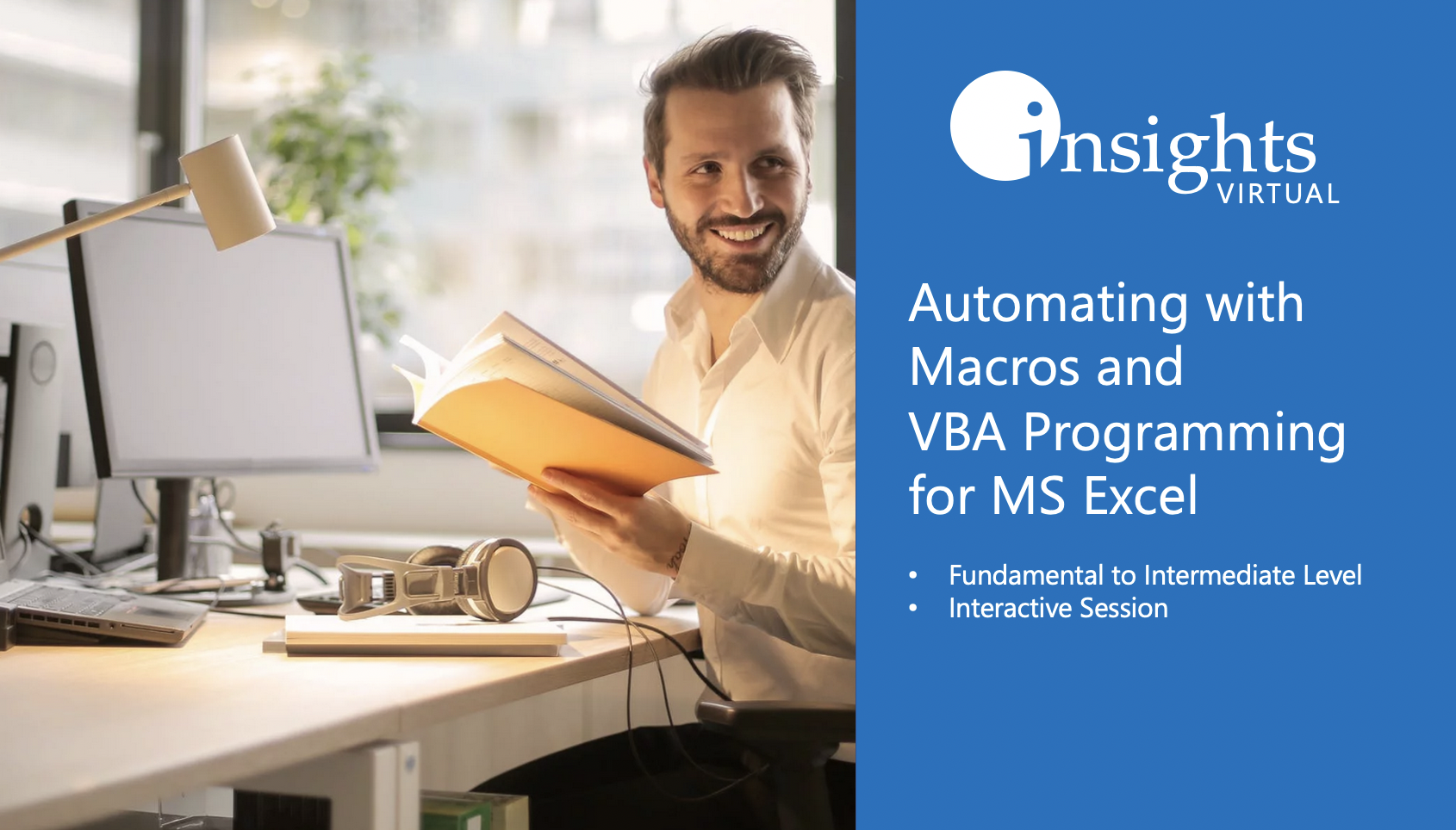 WEBINAR Automating MS Excel with Macros and VBA Programming's Enrollment Cover